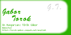 gabor torok business card